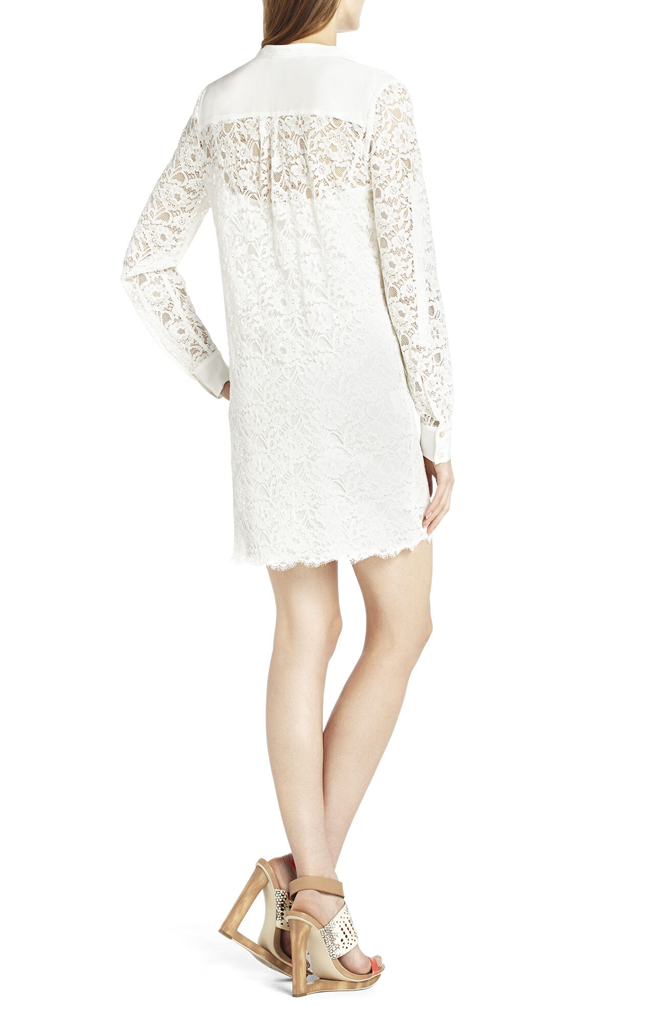 Lunah Lace Tunic with Contrast Bib