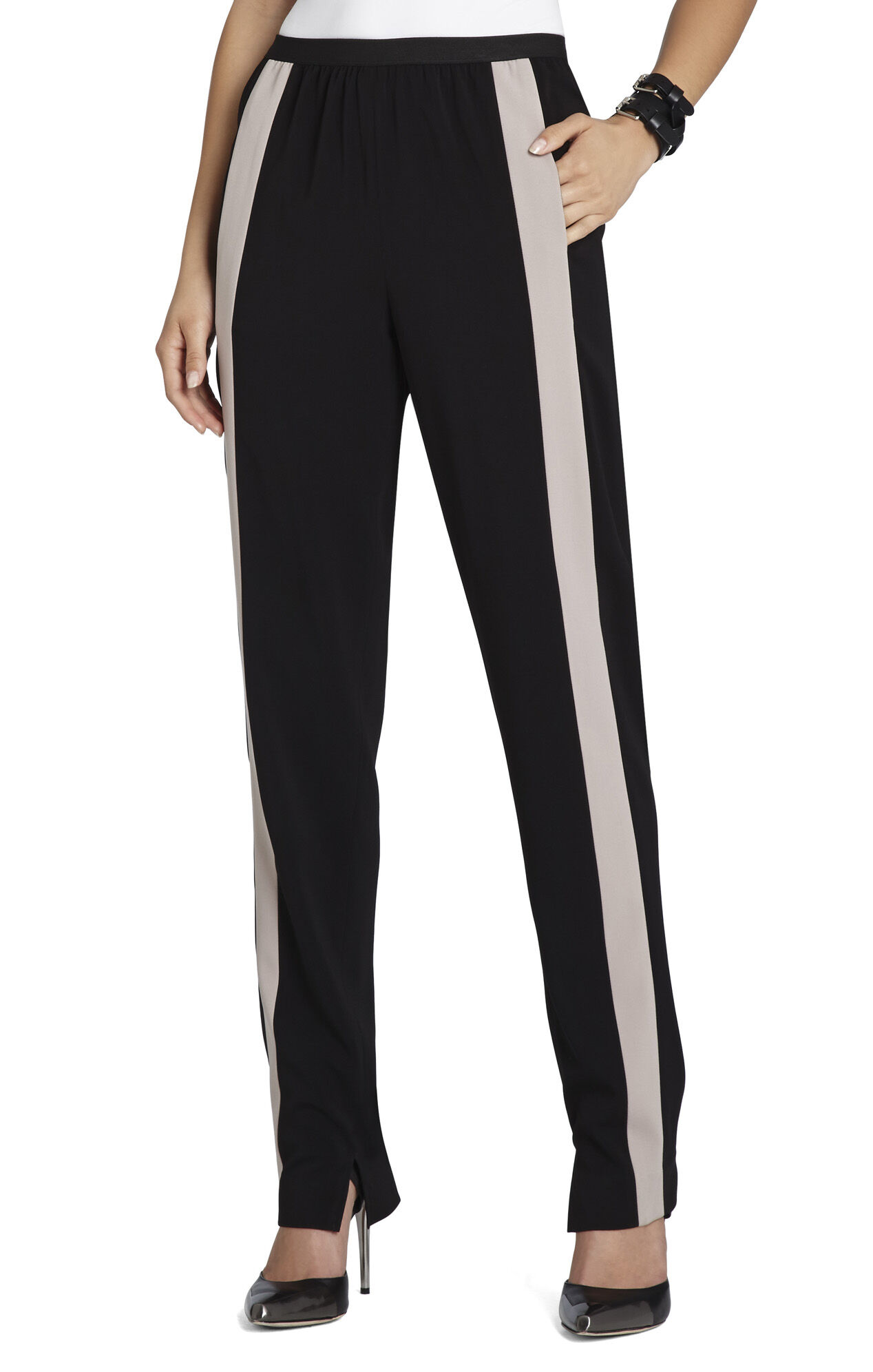 Michael Contrast-Striped Relaxed Trouser