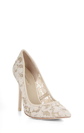 Opia High-Heel Lace Pointed-Toe Pump