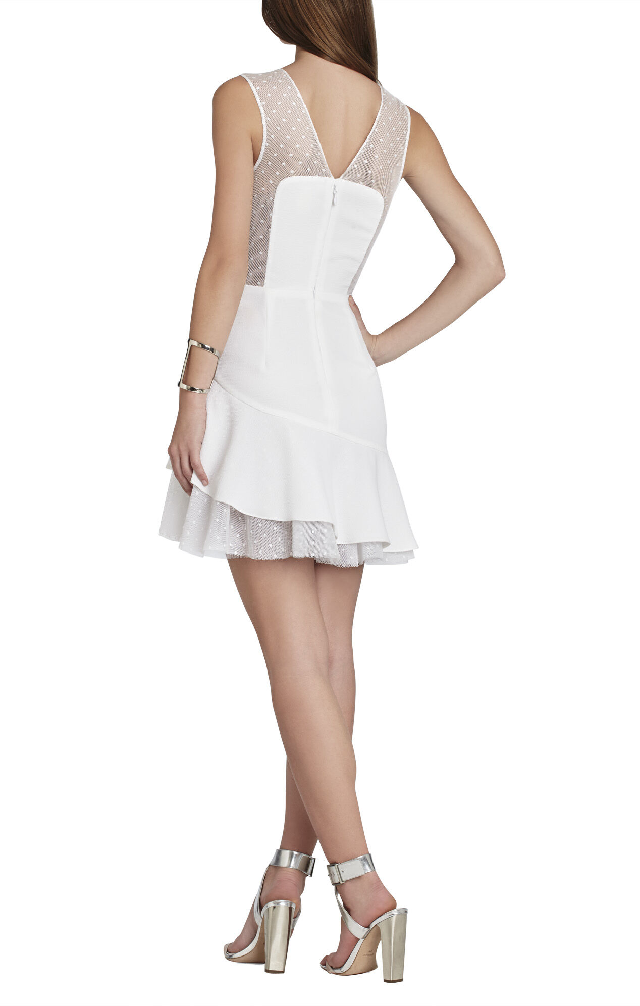 Adrianna Asymmetrical Ruffle-Skirt Dress