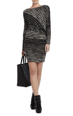 Laheld Side-Draped Tunic Dress