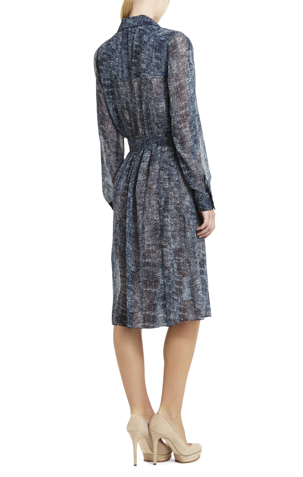 Talley Long Printed Shirtdress