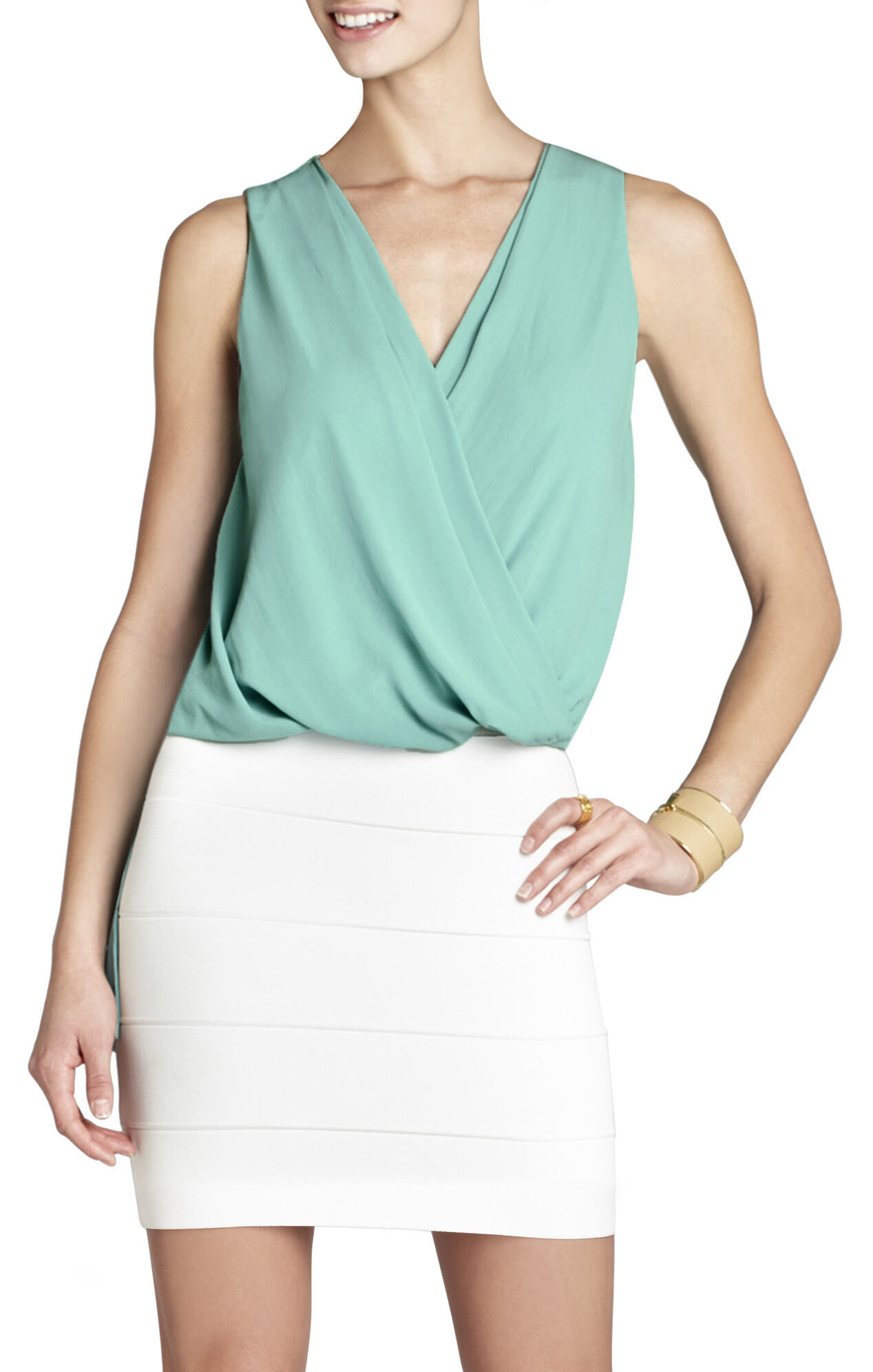 Antonella Tank With Front Twist