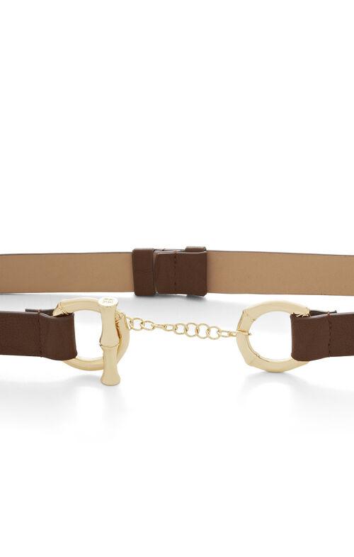 Bamboo Faux-Leather Toggle Belt