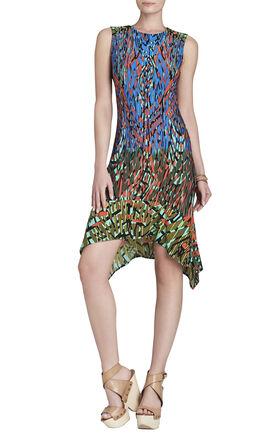 Jenica Sleeveless Ruffle-Hem Shift Dress