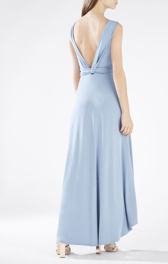Fara High-Low Twist Open-Back Dress