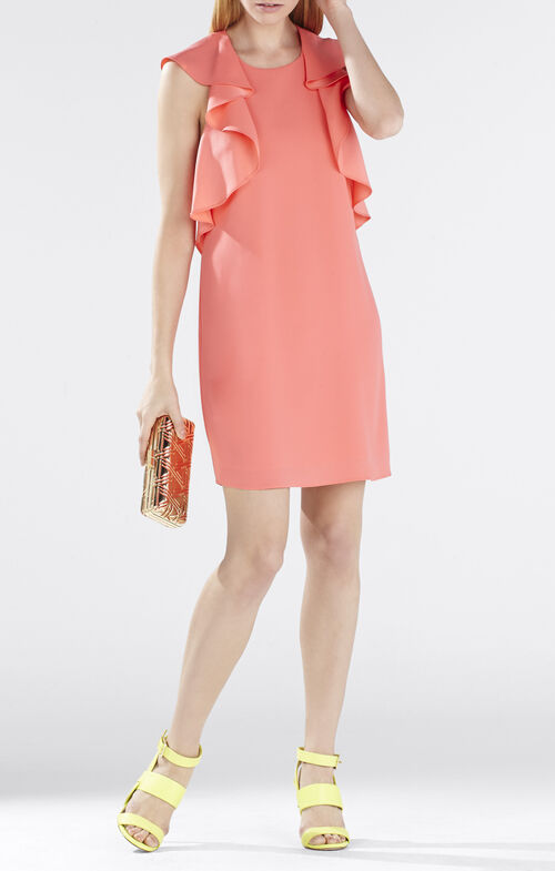 Jenni Ruffle-Shoulder Racerback Dress