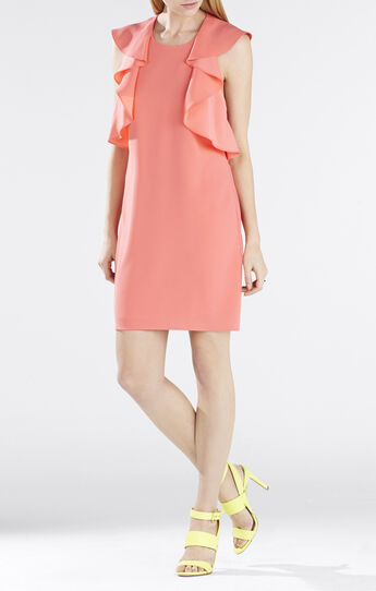 Jenni Ruffle-Shoulder Racerback Dress