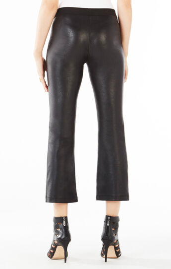 Tate Flared Faux-Leather Pant