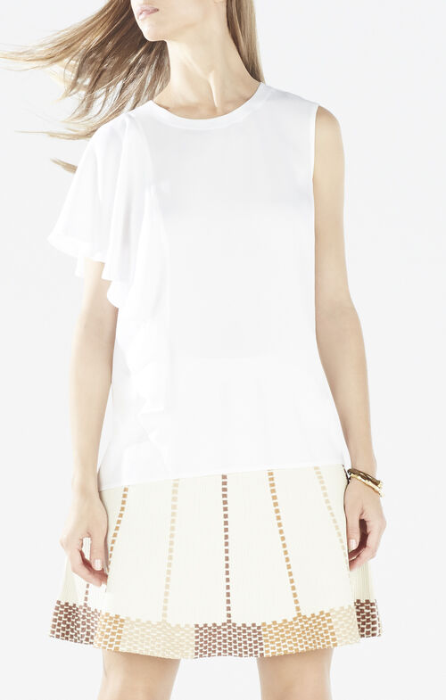 Matalin Asymmetrical Ruffle Top