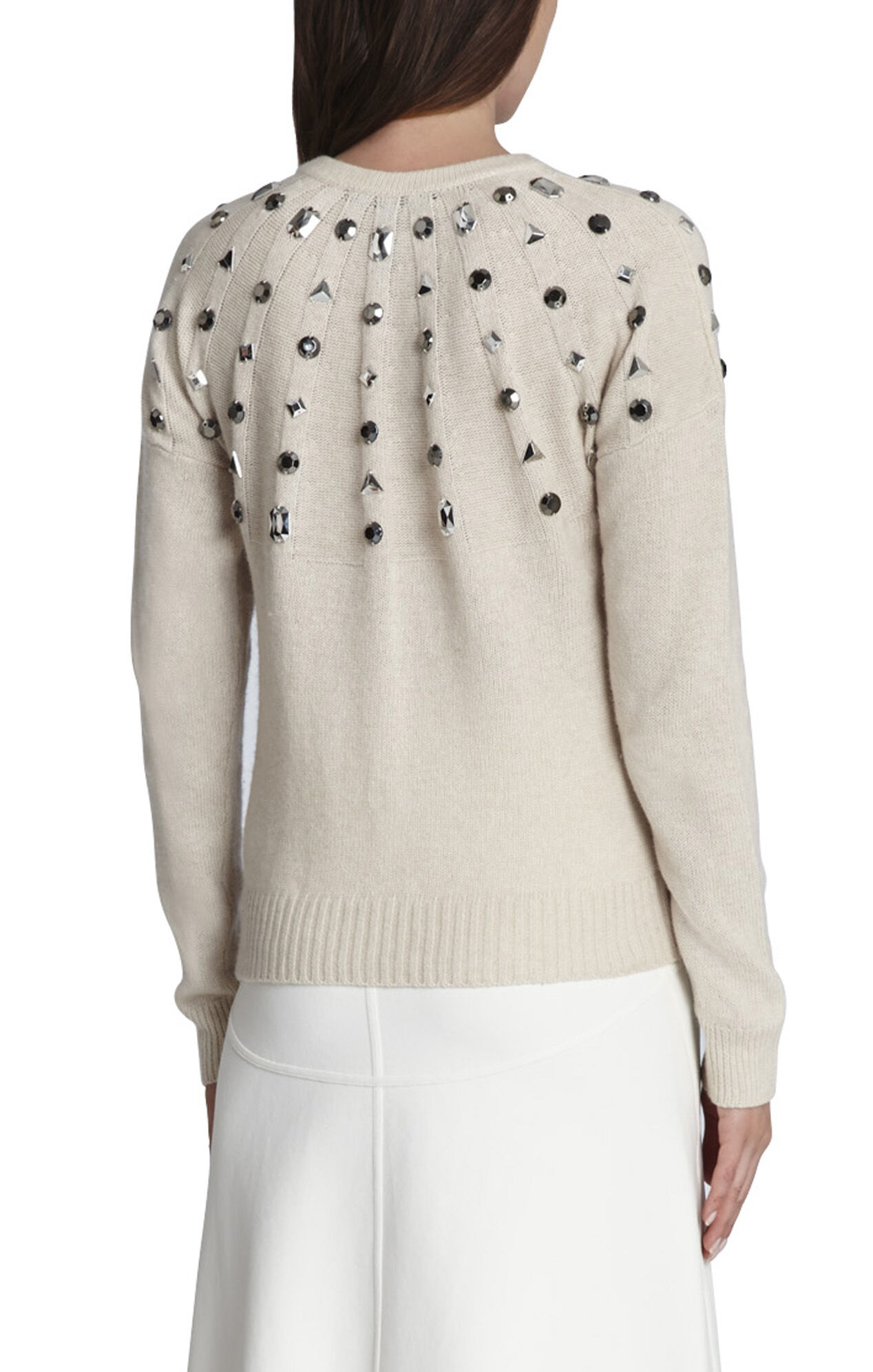 Miri Beaded Crewneck Pullover