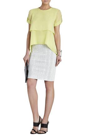 Beatrix Short-Sleeve Layered Top