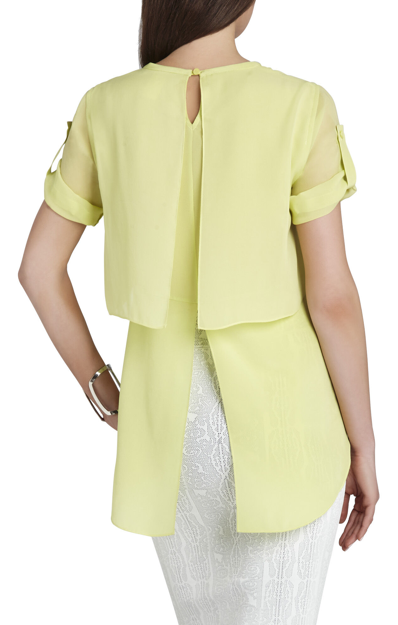 Beatrix Short-Sleeve Layered Top