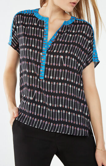 Ayanna Cupid Stripe Print Top