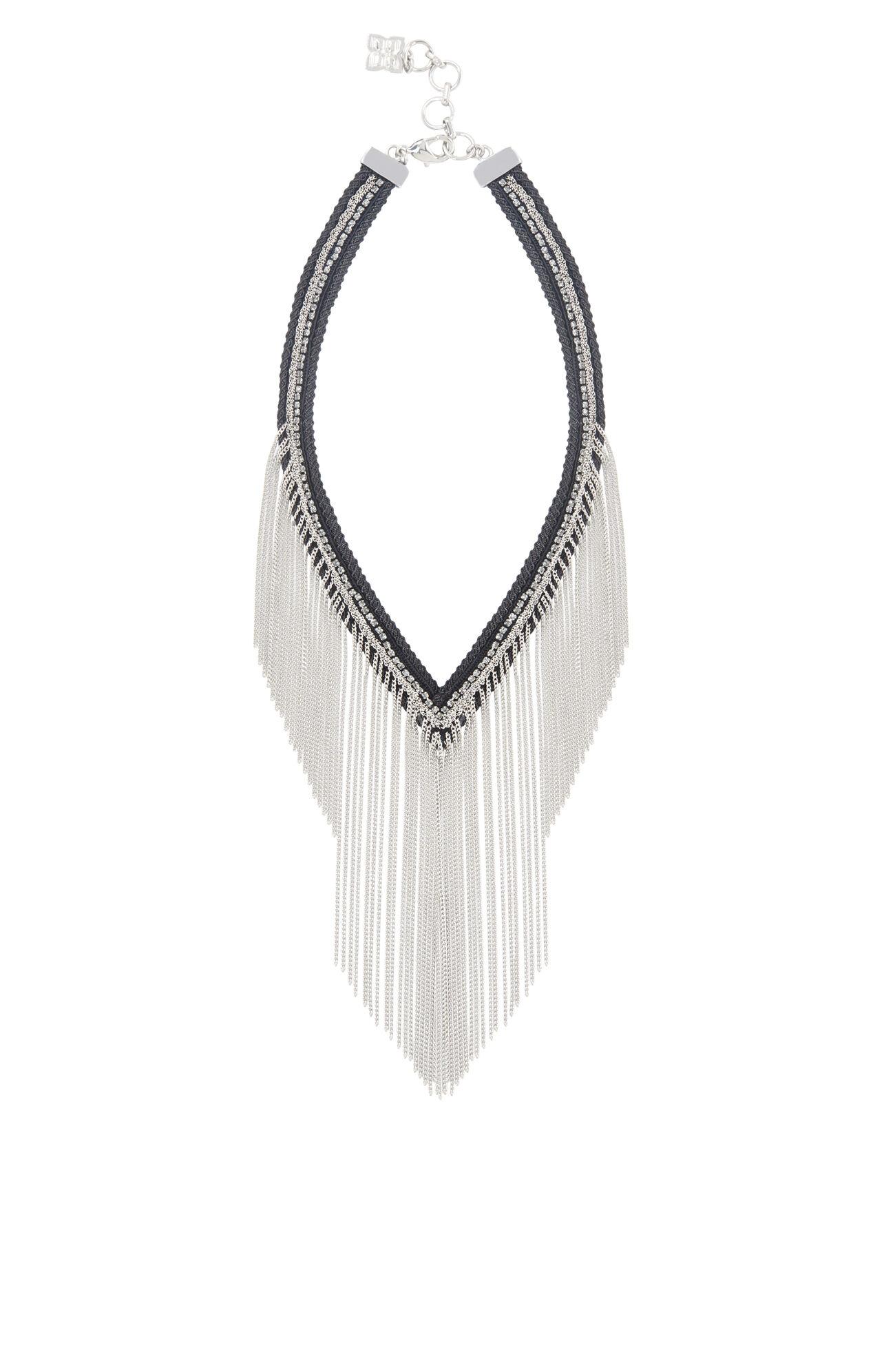 Braid and Fringe Necklace