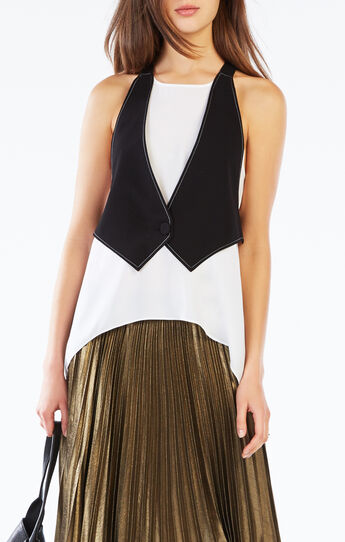 Marcele Color-Blocked Vest Top