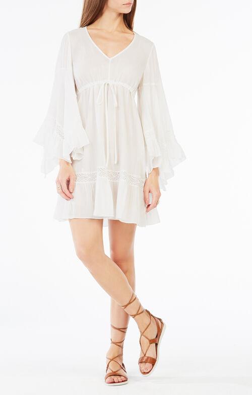 Jackleen Ruffled Peasant Dress