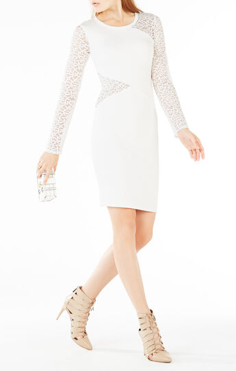 Jorden Lace-Contrast Body-Con Dress