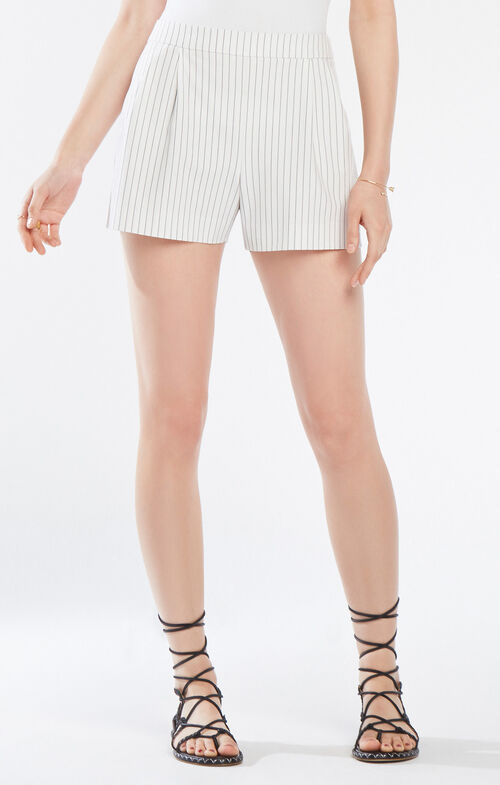 Burke Pinstriped Pleated Short