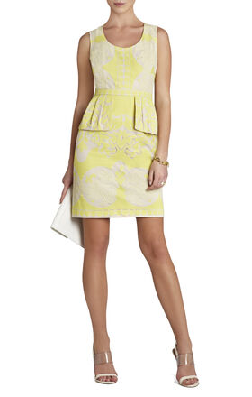 Etna Lace Peplum Sheath Dress