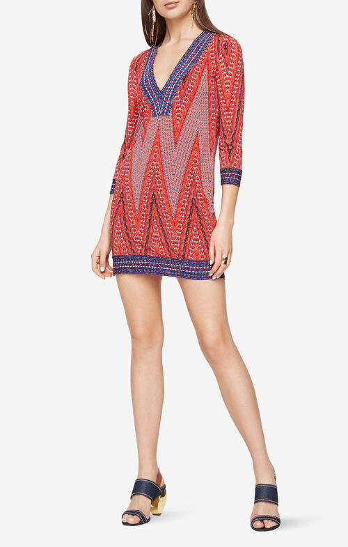Belle Chevron Print Dress
