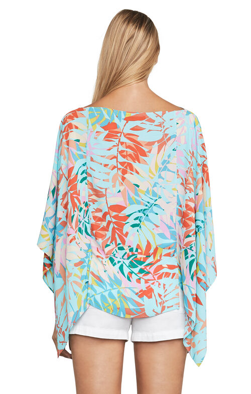 Kei Tropical-Print Poncho