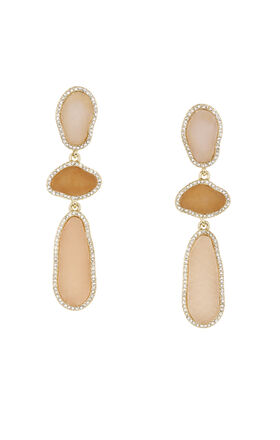 Natural Stone Statement Earrings