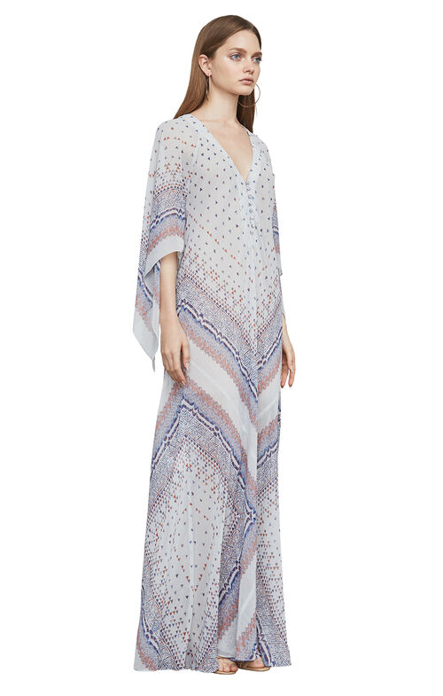 Izabel Tapestry-Print Gown
