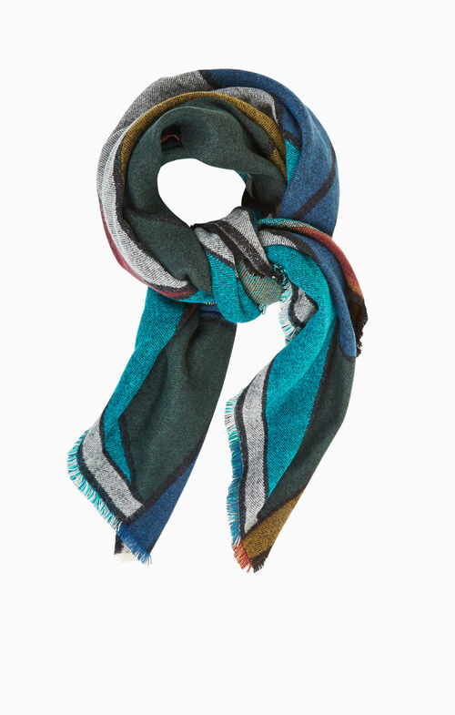 Color-Blocked Scarf
