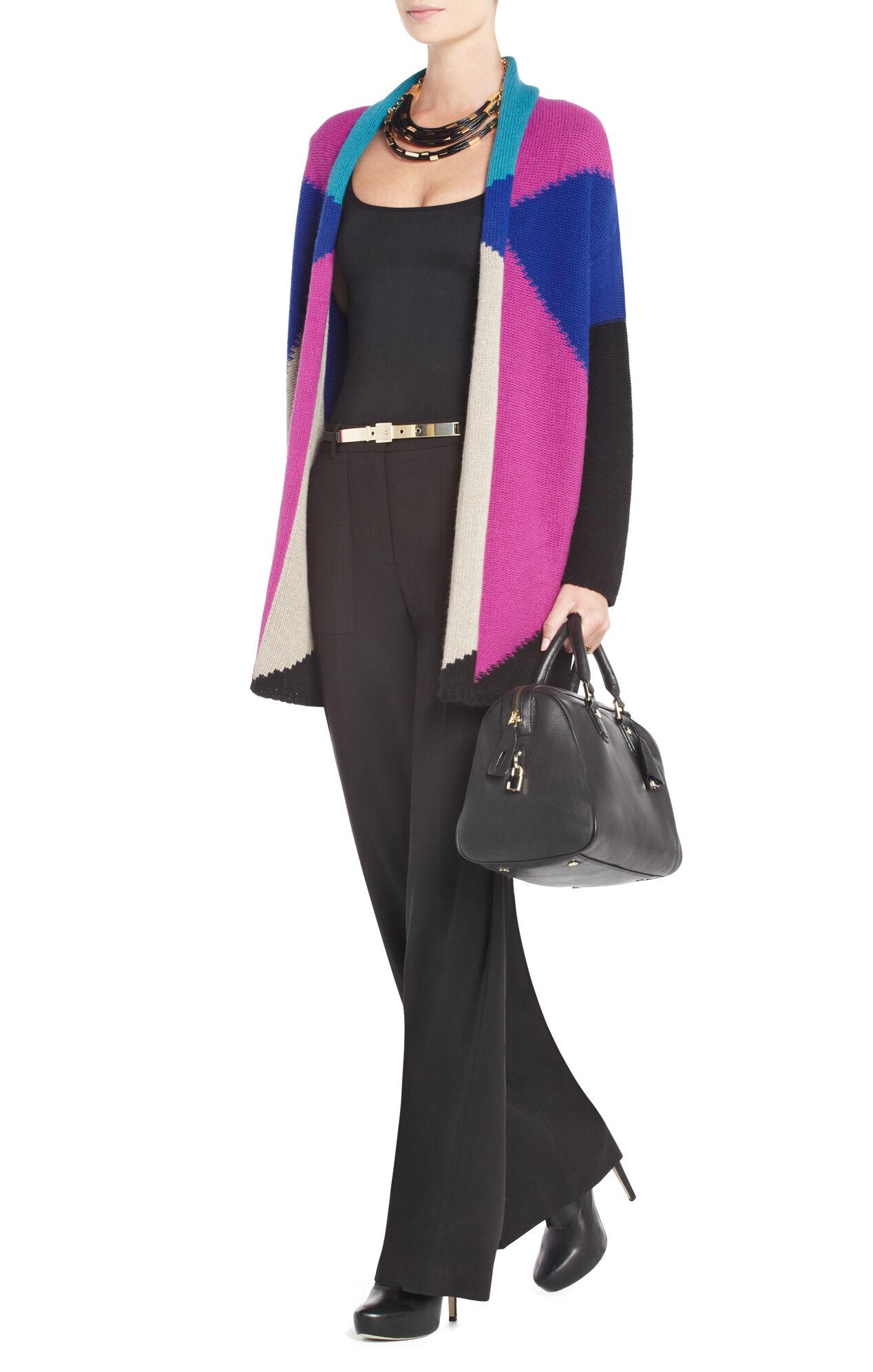 Maude Oversized Color-Blocked Cardigan