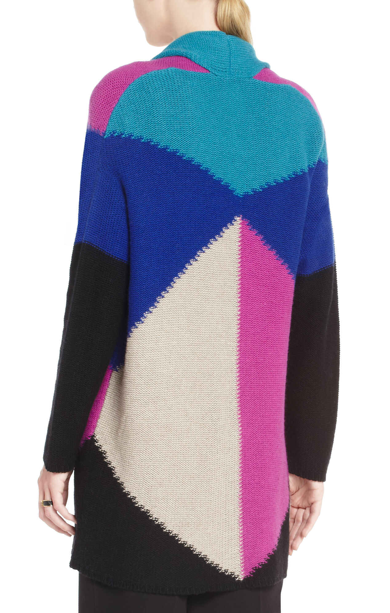Maude Oversized Color-Blocked Cardigan