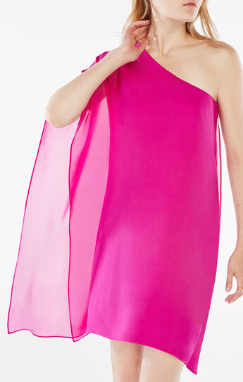 Alana One-Shoulder Silk Dress