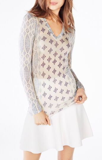 Jan Tapestry Print Top
