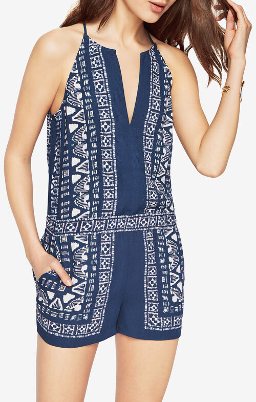 Tyra Scarf Print Romper