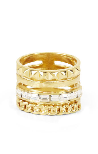 Multi-Layered Stone Ring