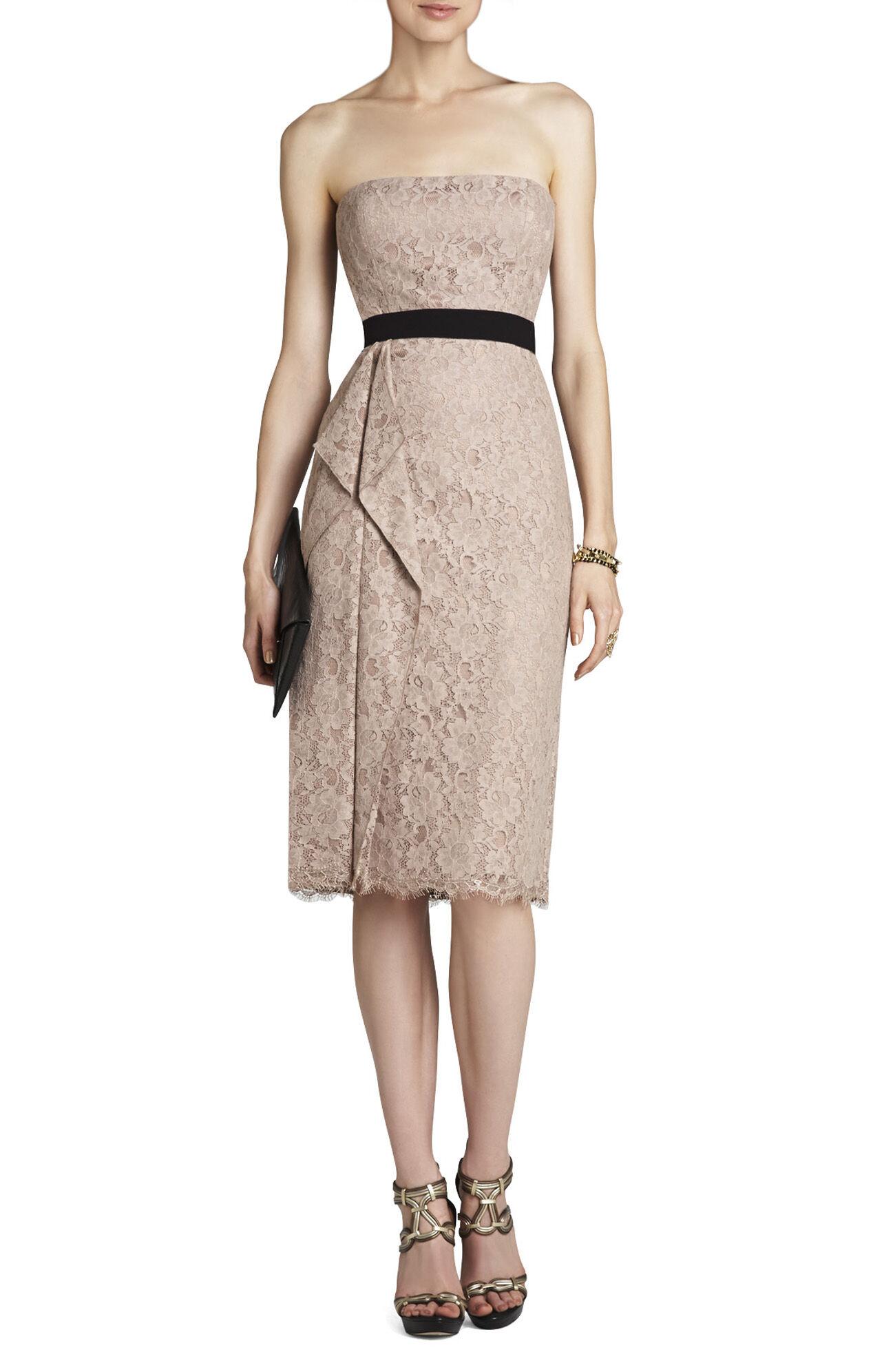 Alexandra Strapless Dress With Side-Drape