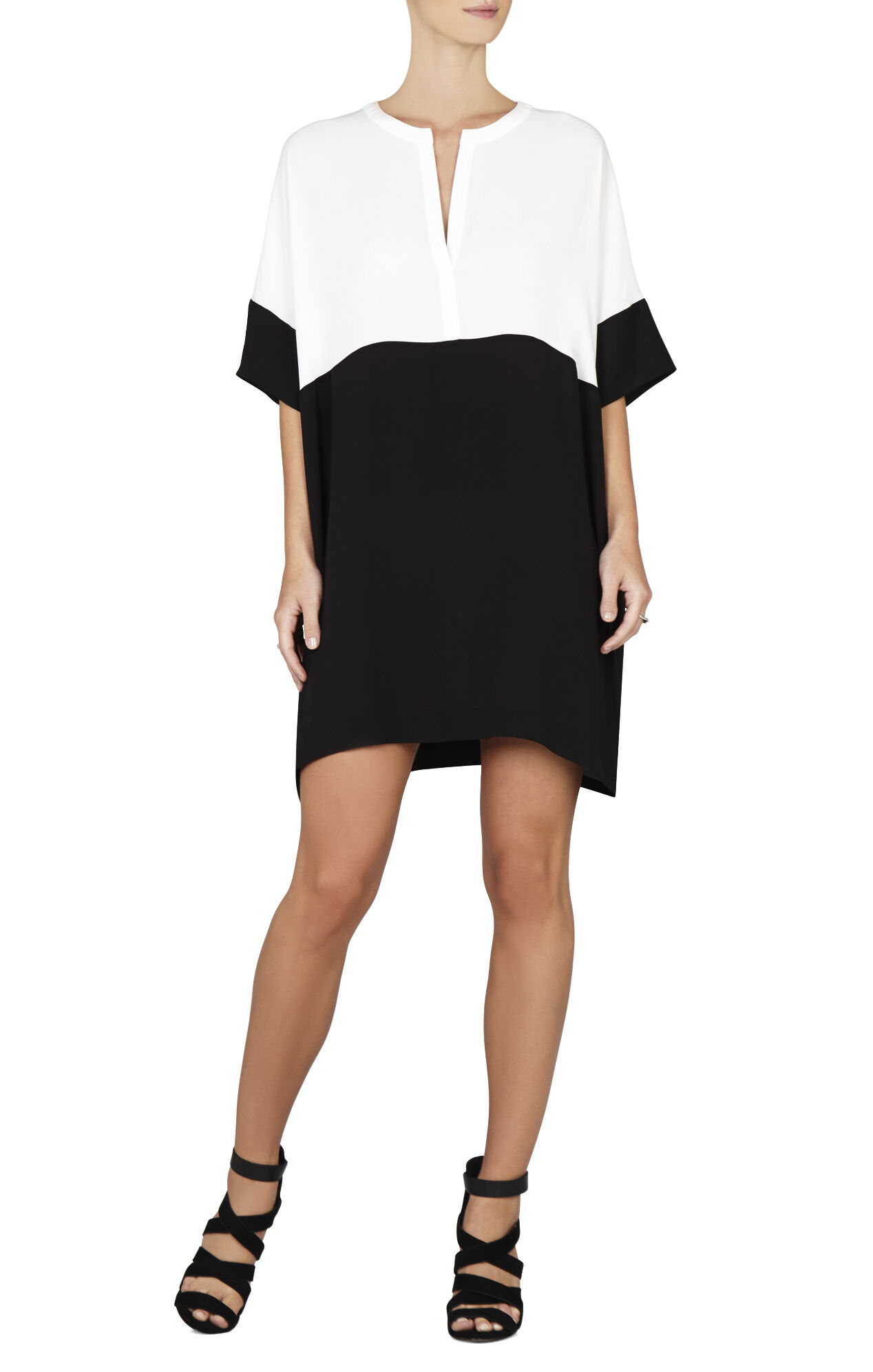 Inessa Color-Blocked Tunic Dress