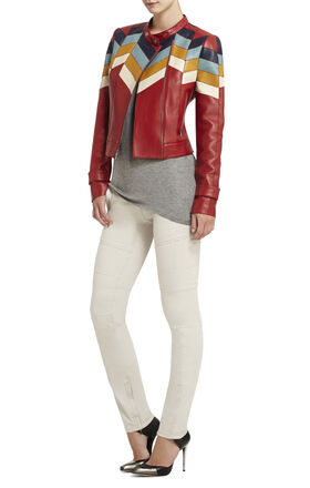 Cal Color-Blocked Moto Jacket