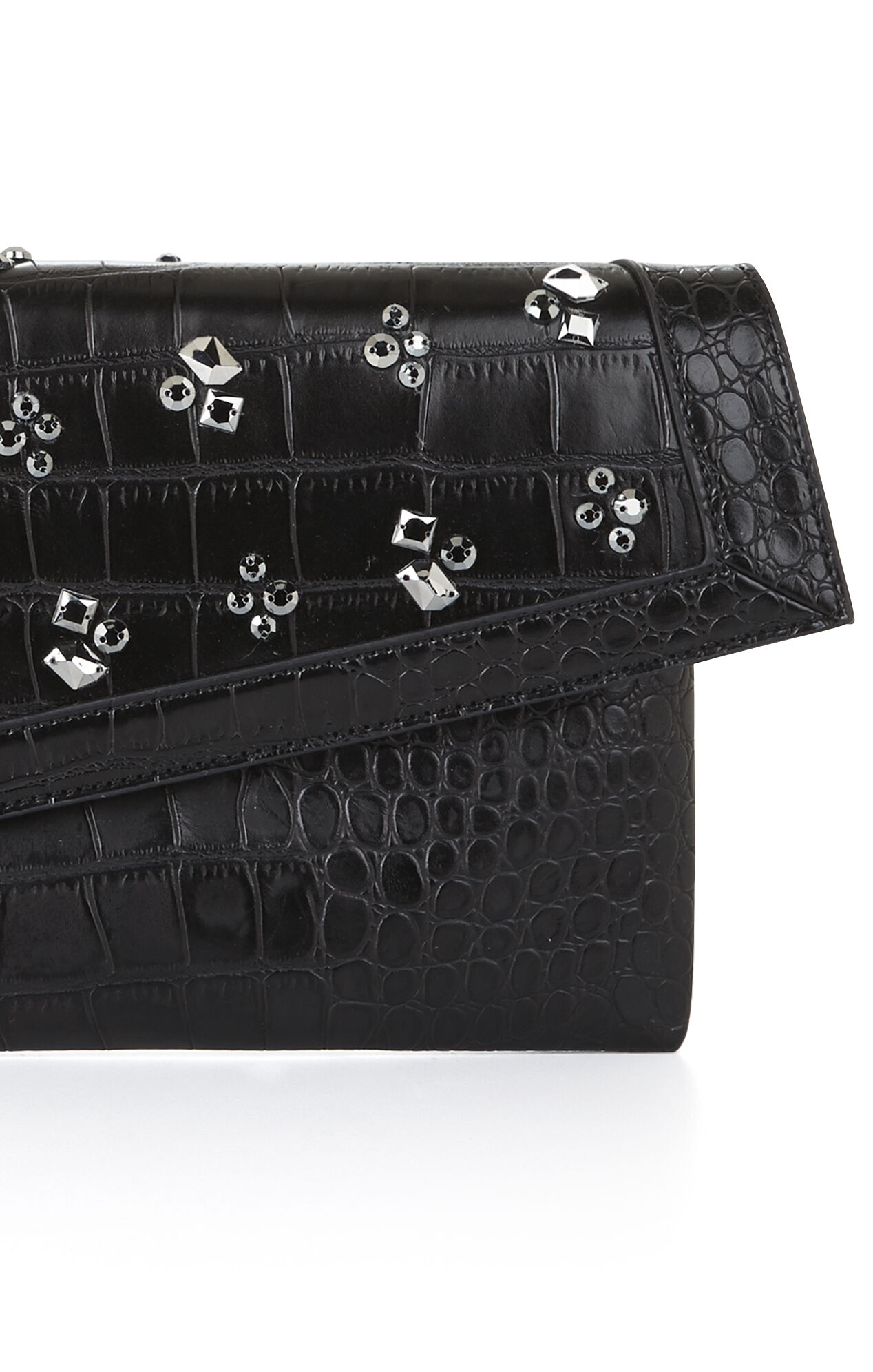 Leyna Jeweled Asymmetrical Clutch