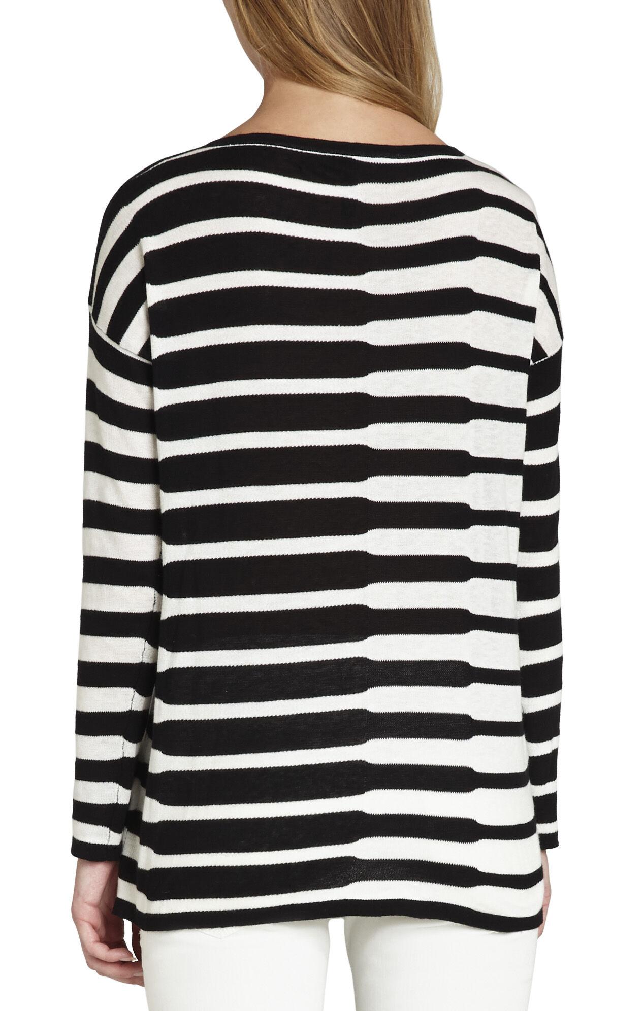 Dilana Striped Intarsia Pullover
