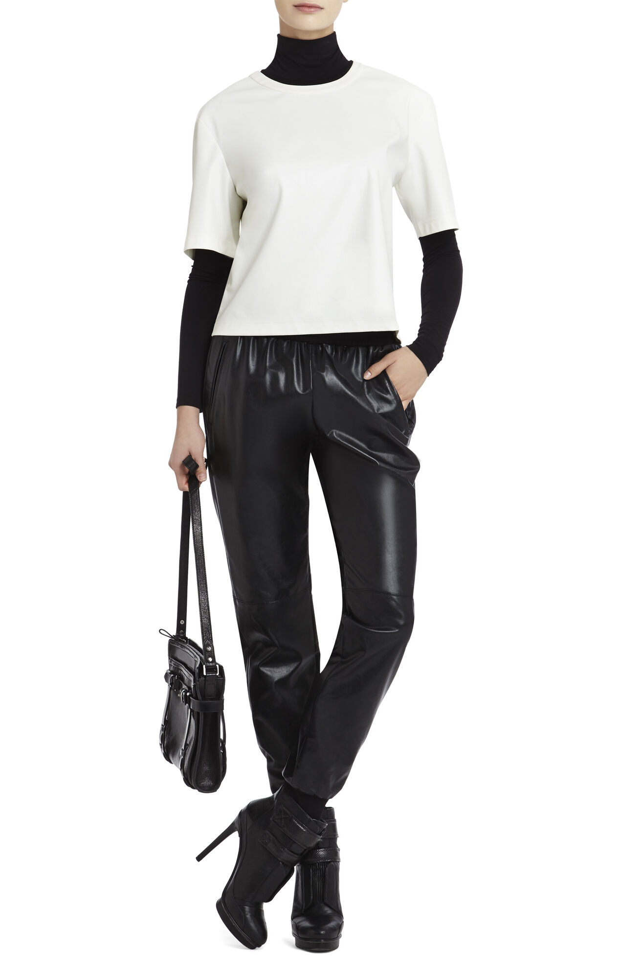 Micah Relaxed Faux-Leather Shirt