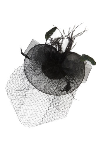 Feather Net Veil Fascinator Clip