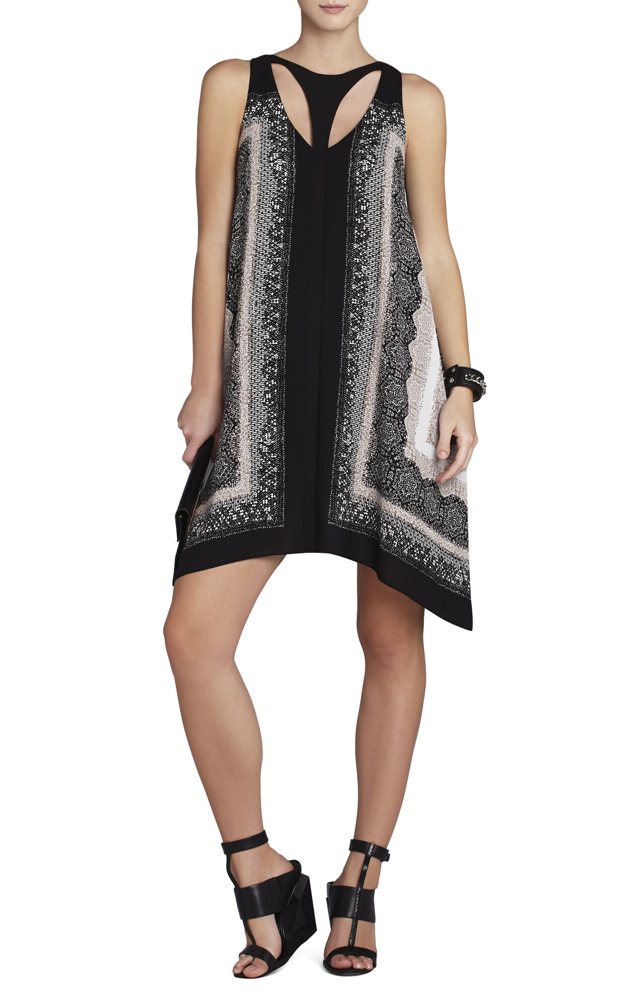 Amelia Printed Cutout Dress