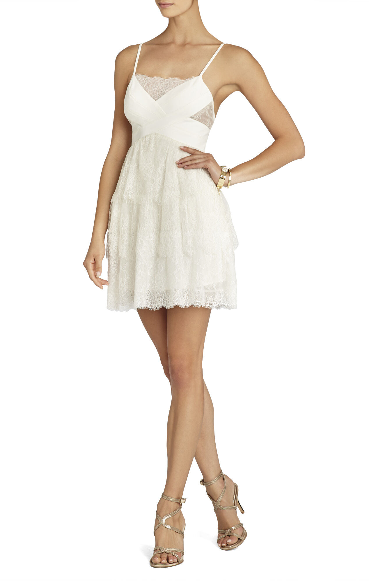 Josanna Ponti Bodice Lace Dress