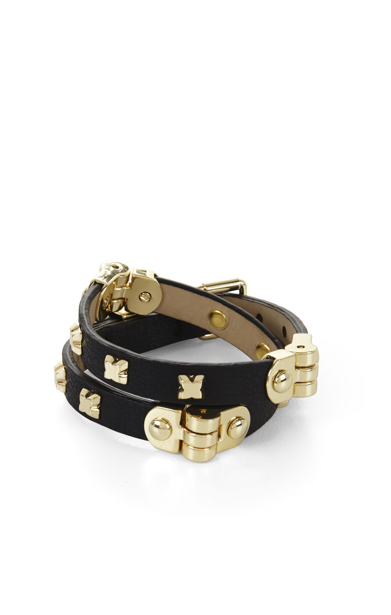 Icon-Studded Wrap Bracelet