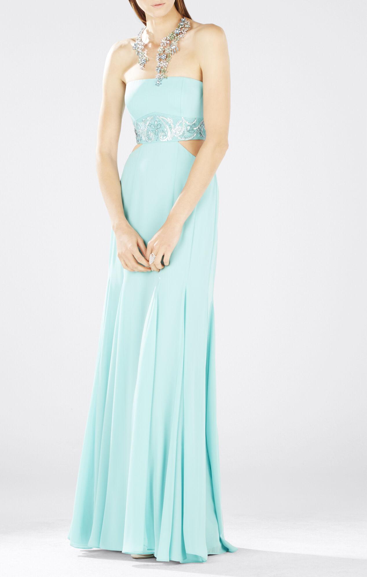 Axelle Strapless Waist Cutout Gown