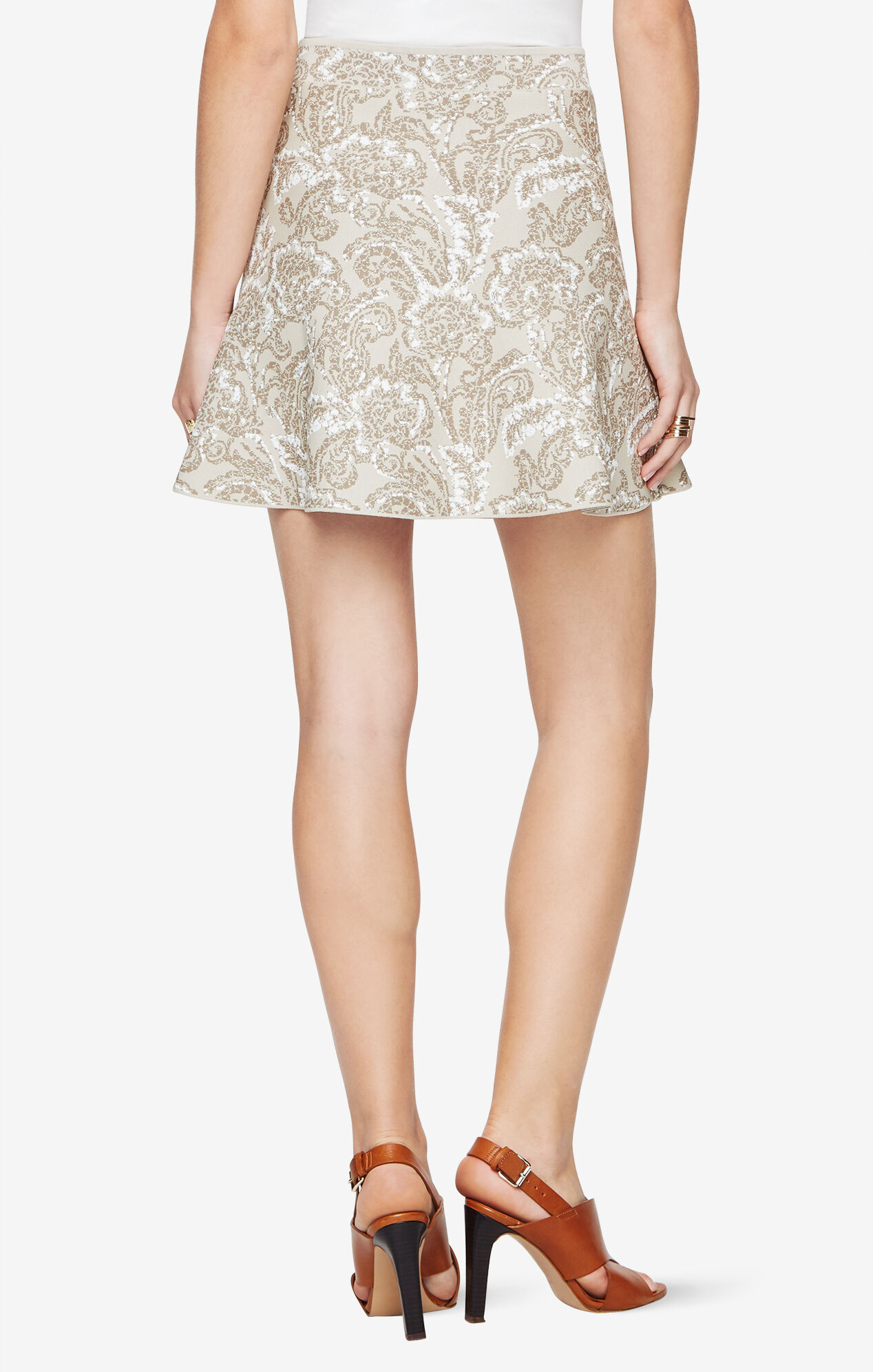Queeny Floral Jacquard Skirt