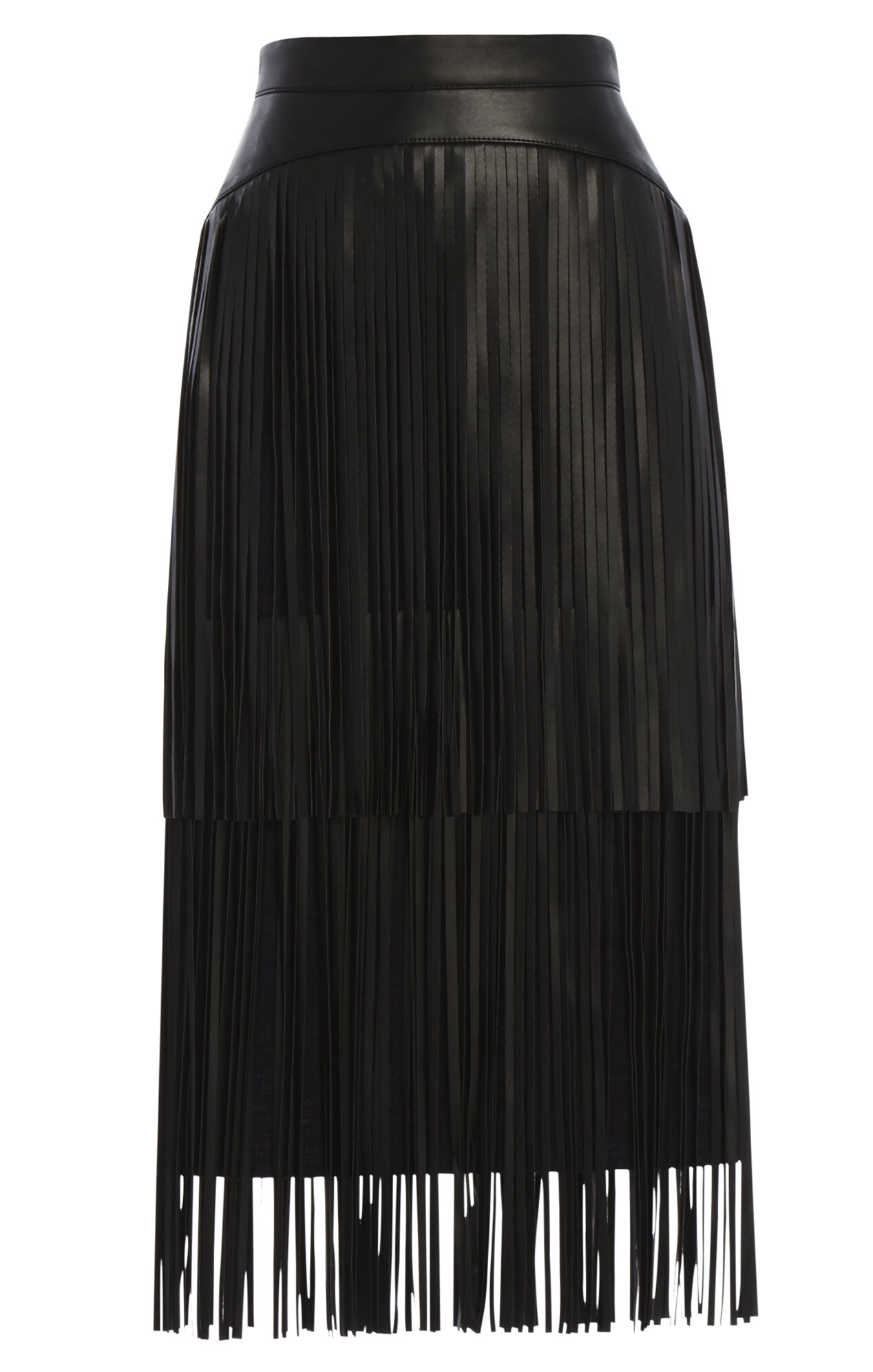 Rashell Fringe-Detail Pencil Skirt