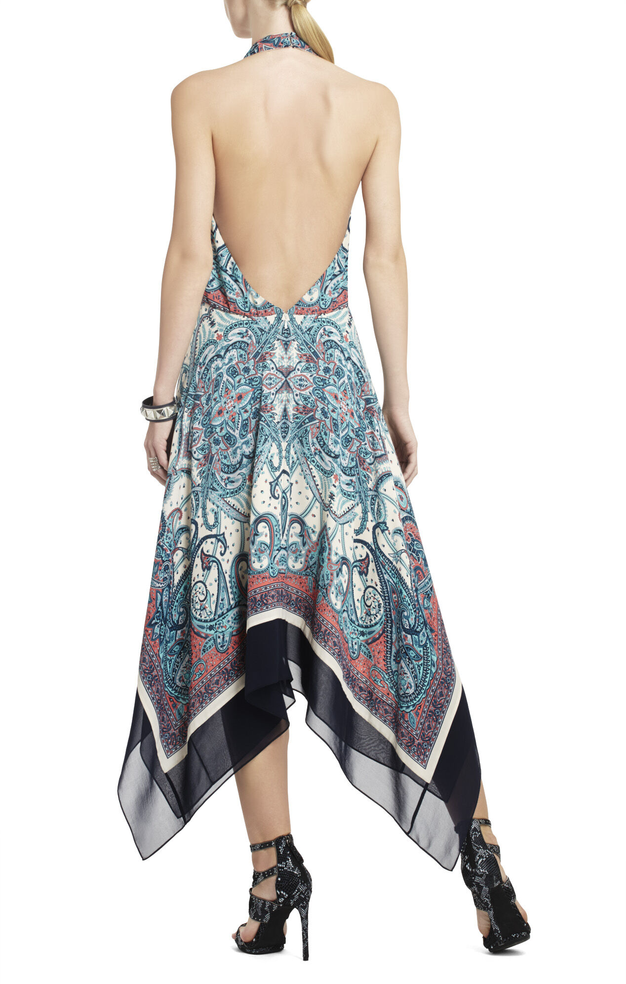 Marion Printed Halter Dress