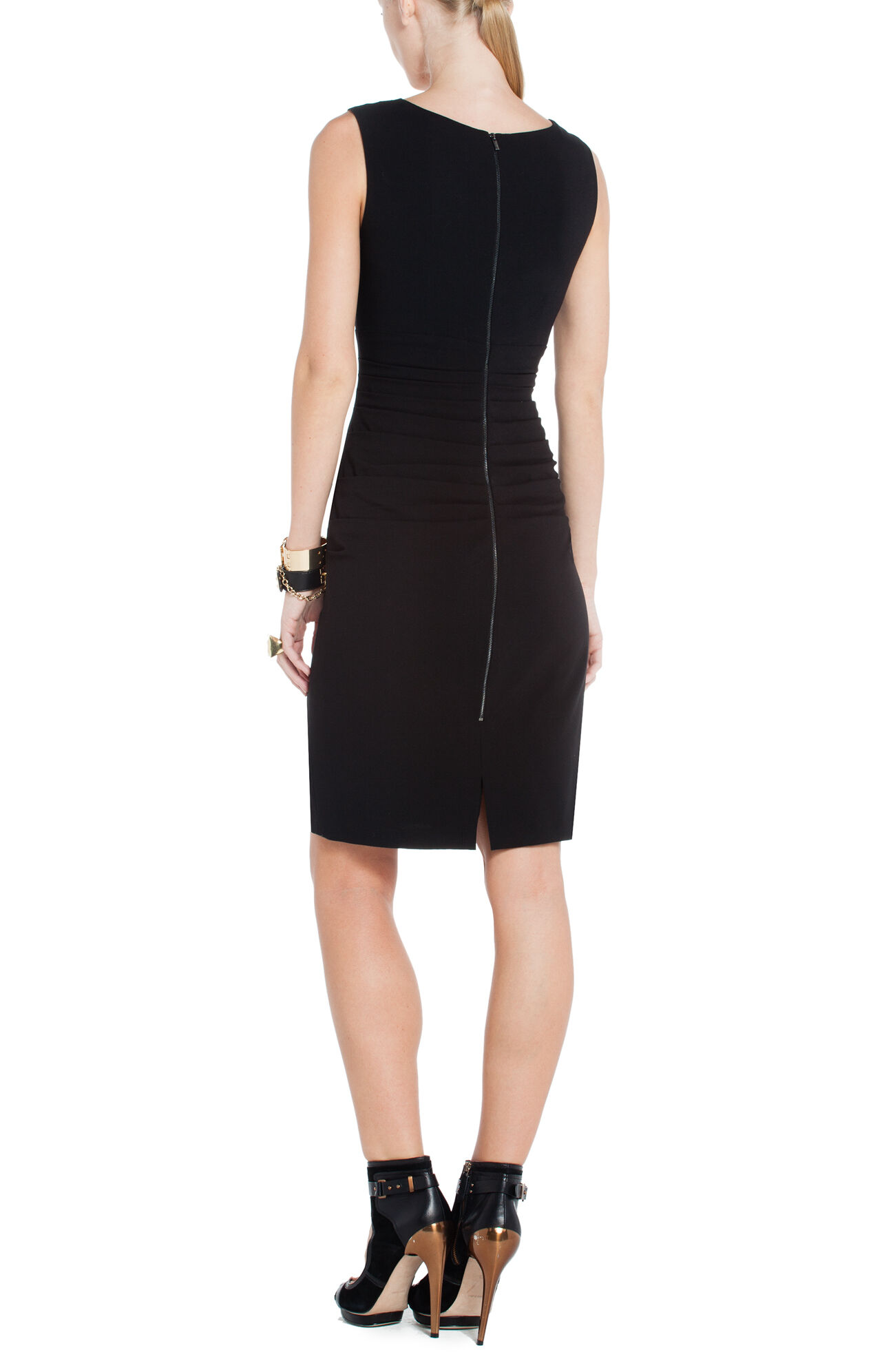 Alysse Pleated Sheath Dress